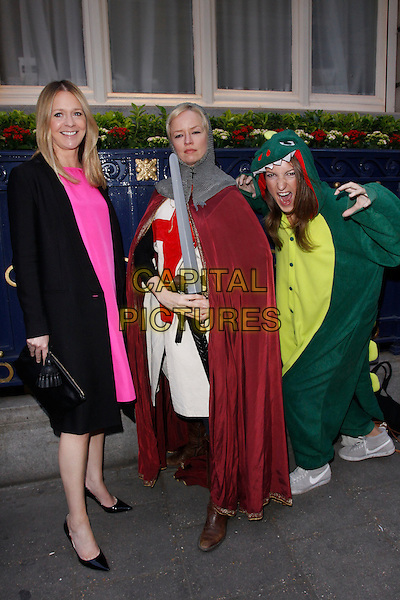 LONDON, ENGLAND - APRIL 28 :  Kate Reardon, Clare Bennett and Sophia Money-Coutts arrive at the Tatler Best of British - party at The Ritz on April 28, 2015 in London, England.<br /> CAP/AH<br /> &copy;Adam Houghton/Capital Pictures