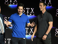 LAS VEGAS, NV - APRIL 24: Actor Mark Wahlberg and Director Peter Berg onstage during the STX Films presentation at CinemaCon 2018 at The Colosseum at Caesars Palace on April 24, 2018 in Las Vegas, Nevada. (Photo by Frank Micelotta/PictureGroup)