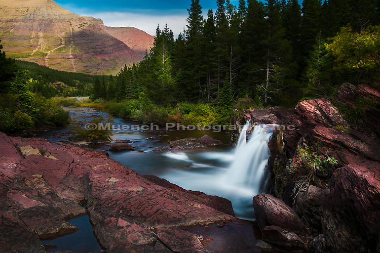 Red Rock Falls, Glacier National Park, Montana