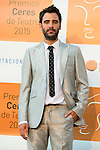 Elias Gonzalez poses for the photographers during 2015 Theater Ceres Awards photocall at Merida, Spain, August 27, 2015. <br /> (ALTERPHOTOS/BorjaB.Hojas)