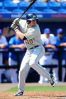 Michigan Wolverines outfielder Michael O'Neill #10 during an exhibition game against the New York Mets at Tradition Field on February 24, 2013 in St. Lucie, Florida.  New York defeated Michigan 5-2.  (Mike Janes/Four Seam Images)