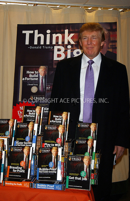 WWW.ACEPIXS.COM . . . . . ....NEW YORK, JANUARY 10 2006....Donald Trump promoting his new audio business course 'How to Build a Fortune' at Barnes and Noble. ....Please byline: KRISTIN CALLAHAN - ACEPIXS.COM.. . . . . . ..Ace Pictures, Inc:  ..Philip Vaughan (212) 243-8787 or (646) 679 0430..e-mail: info@acepixs.com..web: http://www.acepixs.com