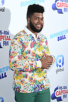 Khalid<br /> poses on the media line before performing at the Summertime Ball 2019 at Wembley Arena, London<br /> <br /> ©Ash Knotek  D3506  08/06/2019