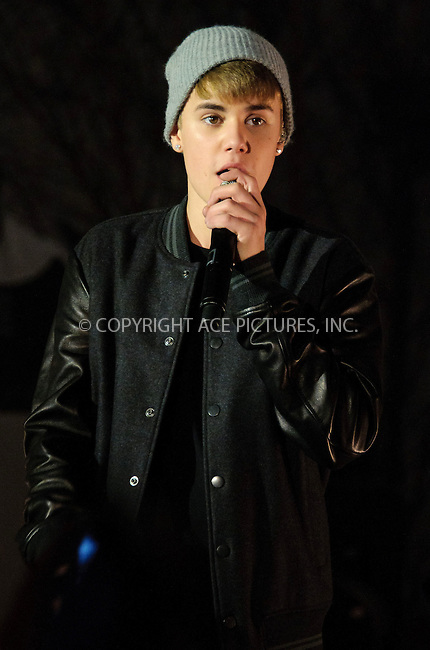 WWW.ACEPIXS.COM . . . . .  ..... . . . . US SALES ONLY . . . . .....November 7 2011, London....Justin Bieber performing at the Westfield Shepherds Bush Christmas lights ceremony on November 7 2011 in London....Please byline: FAMOUS-ACE PICTURES... . . . .  ....Ace Pictures, Inc:  ..Tel: (212) 243-8787..e-mail: info@acepixs.com..web: http://www.acepixs.com