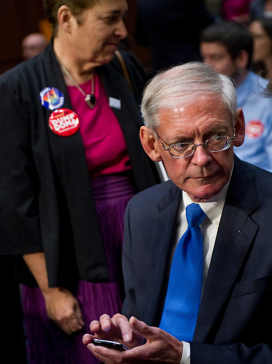 WASHINGTON, DC - July 20: Thomas Minnery, senior vice president for public policy for Focus on the Family, before the Senate Judiciary Committee  hearing on proposals to repeal the Defense of Marriage Act (PL 104-199). (Photo by Scott J. Ferrell/Congressional Quarterly)