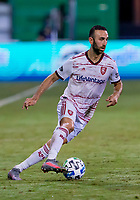 17th July 2020, Orlando, Florida, USA;  Real Salt Lake forward Justin Meram (9) during the MLS Is Back Tournament between the Real Salt Lake versus Minnesota United FC on July 17, 2020 at the ESPN Wide World of Sports, Orlando FL.