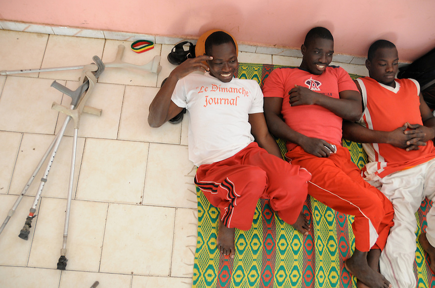 Dakar, Senegal (2008) - Faye and teammates of Talibou Dabo team would spend the entire day together on game days. They meet up at 10 AM for a 4 pm game.