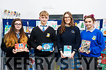 The Students selected for the Kerry ETB Christmas card competition, l to r: Emilia Girasole (Coaiste na Riochta), Conor Hope (Colaiste na Riochta), Caiomhe Curran (Colaiste na Sceilge) and Agna Arl Auskaite (Castleisland Community College).