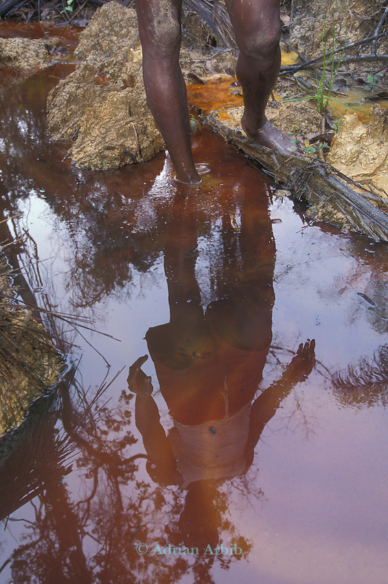 Shell Oil spill in the Delta region of Nigeria.  The local tribe, the Ijaw, complain of  loosing their fishing  as a  result as well as having their water source  poisoned. They also recieve no compensation from Shell's poor pipeline  maintenance.