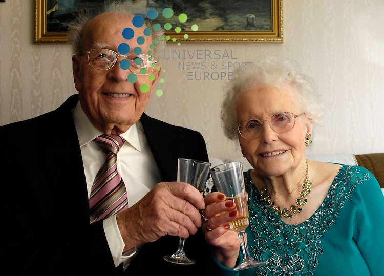 Robert Erskine (95) with wife Susan (94) enjoy their 70th..wedding anniversary at home Boness.
