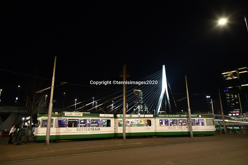 Rotterdam, The Netherlands, 7 Februari 2020, ABNAMRO World Tennis Tournament, Draw in tram in town<br /> Photo: www.tennisimages.com