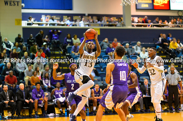18 November 2015:  NCAAB High Point at Drexel at Daskalakis Athletic Center in Philadelphia, PA. (Photo by Gavin Baker)