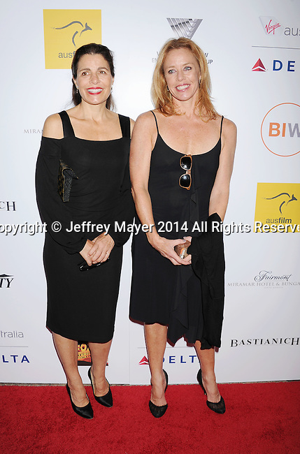 SANTA MONICA, CA- OCTOBER 26: Carol Coote (L) and Tara Olson attend the 3rd Annual Australians in Film Awards Benefit Gala at the Fairmont Miramar Hotel on October 26, 2014 in Santa Monica, California.