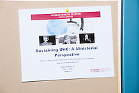 "A flyer announces a seminar called ""Sustaining UHC: A Ministerial Perspective"" with Philippe Douste-Blazy during his visit to Harvard University's T. H. Chan School of Public Health in Boston, Massachusetts, USA. The visit is part of his campaign to become Director General of the World Health Organization. During the visit, he met with professors, students, and visiting scholars, including former Ministers of Health from England and Brazil. Doutse-Blazy is Under-Secretary-General and Special Adviser on Innovative Financing for Development in the United Nations and chairman of UNITAID. He served as Minister of Health, Minister of Culture, and Foreign Minister in the French government and was also mayor of Lourdes and Toulouse."