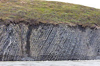 Geological folds along the Etivluk river, arctic, National Petroleum Reserve, Alaska.