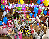 Lori, REALISTIC ANIMALS, REALISTISCHE TIERE, ANIMALES REALISTICOS, paintings+++++Barnyard Bash Puzzle_7_72,USLS05,#A#, EVERYDAY ,puzzles