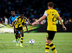 Borussia Dortmund striker Ousmane Dembele (l) during the 2016 International Champions Cup China match at the Shenzhen Stadium on 28 July 2016 in Shenzhen, China. Photo by Marcio Machado / Power Sport Images