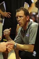 Cougars coach Andrew Gardiner during the NBL match between the Wellington Saints and Christchurch Cougars at Te Rauparaha Stadium, Porirua, Wellington, New Zealand on Saturday 4 April 2009. Photo: Dave Lintott / lintottphoto.co.nz