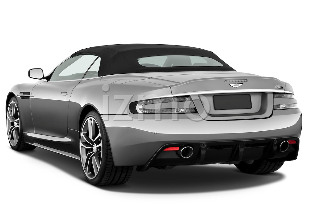 Rear three quarter view of a 2007 - 2012 Aston Martin DBS Volante Convertible.