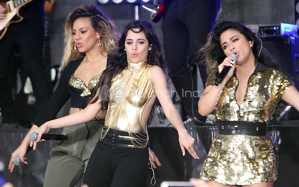 NEW YORK, NY-May 30:  Dinah Jane Hansen, Camila Cabello, Ally Brooke of Fifth Harmony perform at Citi Concert Series on Today Show  in New York. NY May 30, 2016. Credit:RW/MediaPunch