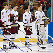 Carl Sneep (Boston College - Nisswa, Minnesota), Tim Filangieri (Boston College - Islip Terrace, NY), Mike Brennan (Boston College - Smithtown, NY), Cory Schneider (Boston College - Marblehead, MA) - The Boston College Eagles defeated the Miami University Redhawks 4-0 in the 2007 NCAA Northeast Regional Final on Sunday, March 25, 2007 at the Verizon Wireless Arena in Manchester, New Hampshire.
