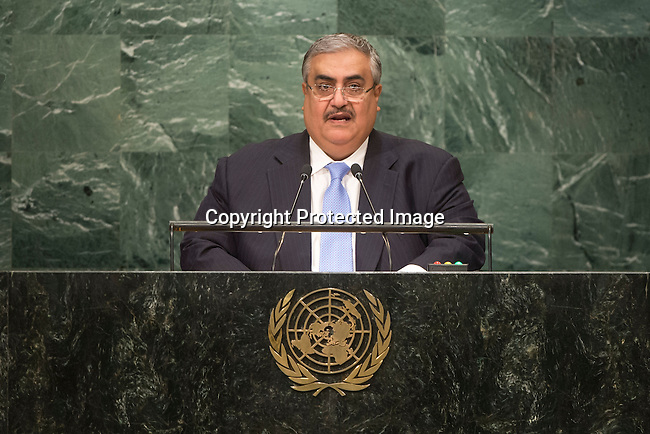 Bahrain<br /> H.E. Mr. Shaikh Khalid Bin Ahmed Al-Khalifa<br /> Minister for Foreign Affairs<br /> <br /> <br /> <br /> General Assembly Seventy First Session: 23rd plenary meeting