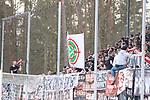 Spruchband in Sandhausen gegen den DFB beim Spiel in der 2. Bundesliga, SV Sandhausen - FC St. Pauli.<br /> <br /> Foto © PIX-Sportfotos *** Foto ist honorarpflichtig! *** Auf Anfrage in hoeherer Qualitaet/Aufloesung. Belegexemplar erbeten. Veroeffentlichung ausschliesslich fuer journalistisch-publizistische Zwecke. For editorial use only. For editorial use only. DFL regulations prohibit any use of photographs as image sequences and/or quasi-video.