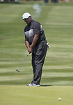 Sterling Sharpe during the American Century Championship at Edgewood Tahoe Golf Course in Stateline, Nevada, Sunday, July 15, 2018.
