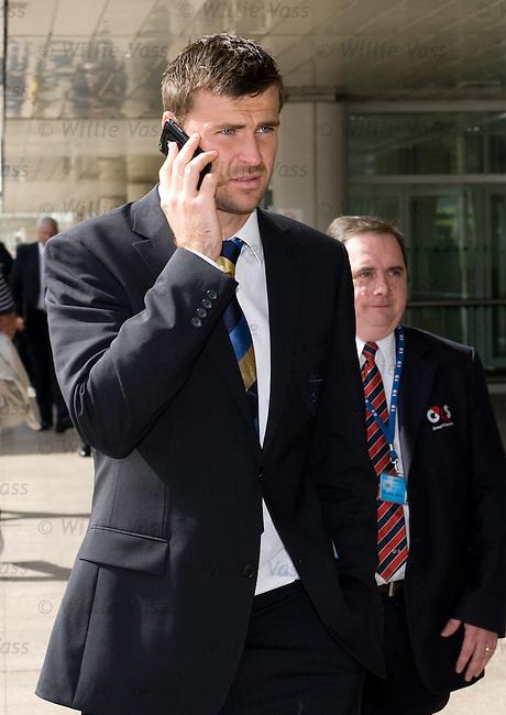 David Marshall on his phone