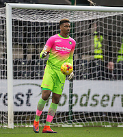 Goalkeeper Jamal Blackman of Wycombe Wanderers during the Sky Bet League 2 match between Notts County and Wycombe Wanderers at Meadow Lane, Nottingham, England on 10 December 2016. Photo by Andy Rowland.