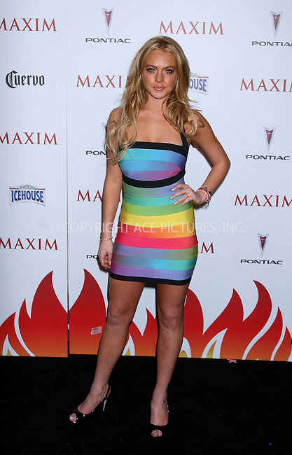 WWW.ACEPIXS.COM . . . . .  ....May 16, 2007. New York City,....Actress Lindsay Lohan attends Maxim's 8th Annual Hot 100 Party held at the Gansevoort Hotel.......Please byline: JOHN WARD - ACEPIXS.COM.... *** ***..Ace Pictures, Inc:  ..Philip Vaughan  (646) 769 0430..e-mail: info@acepixs.com..web: http://www.acepixs.com