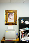 A painting in an office of the Pregnancy Aid Clinic in Hapeville, Georgia, which offers women free support, including ultrasounds, pregnancy tests, classes, and supplies. Seen November 7, 2013.