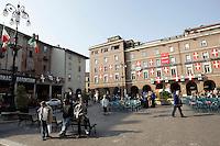 Una veduta di Piazza Liberta', ad Asti.<br /> A view of Piazza Liberta', Asti.<br /> UPDATE IMAGES PRESS/Riccardo De Luca