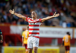 Mikael Antoine-Curier celebrates scoring from the spot for Hamilton