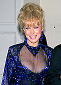 Actress Barbara Eden arrives at the White House in Washington, DC for the State Dinner honoring President Carlos Menem of Argentina on Thursday, November 14, 1991.<br /> Credit: Ron Sachs / CNP