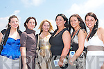 RACING HENS: Mairead Curran's hen party enjoying Ladies Day at the Listowel Races on Sunday afternoon l-r: Yvonne Curran, (Wexford), Adrienne Heaslip, Jackie O'Mahoney, Mairead Curran, Maura O'Connor and Breda O'Connor, all from Tralee.