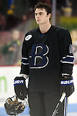 Michael Reardon (Bentley - 18) - The visiting Bentley University Falcons defeated the Boston University Terriers 4-1 (EN) on Saturday, December 14, 2013, at Agganis Arena in Boston, Massachusetts.