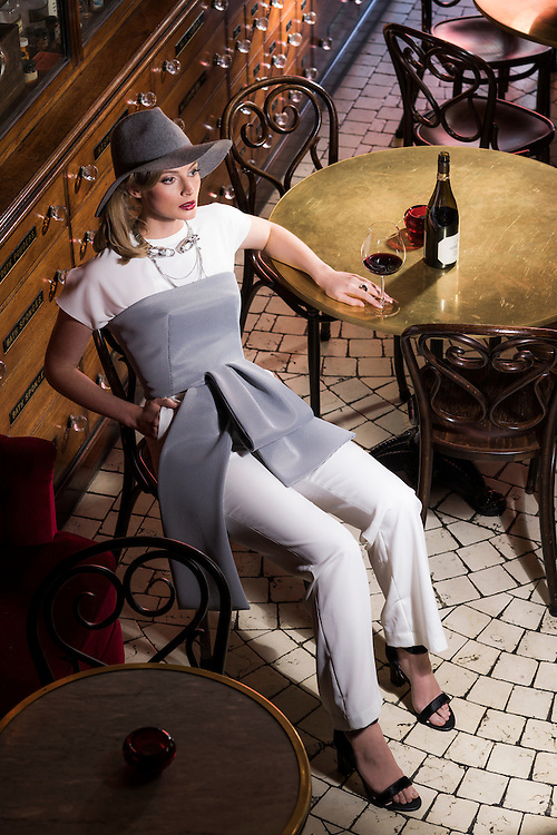 Sunday Mail Fashion. Caberet fashion , Location.  APOTHECARY 1878, Model is Mariette from Finesse .  Photo: Nick Clayton