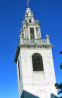 Sir Christopher Wren: St. James Garlickhythe. Steeple 1713. Photo '87.
