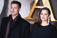 Brad Pitt and Marion Cottilard<br /> at the &quot;Allied&quot; UK premiere, Odeon Leicester Square, London.<br /> <br /> <br /> &copy;Ash Knotek  D3202  21/11/2016