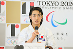 Kiyou Shimizu, <br /> AUGUST 7, 2015 : <br /> World Karate Federation (WKF) <br /> holds a media conference following its interview <br /> with the Tokyo 2020 Organising Committee in Tokyo Japan. <br /> (Photo by YUTAKA/AFLO SPORT)