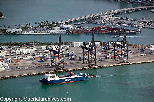 aerial photograph Port of Miami, Florida