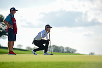 Sung Hyun Park (KOR) lines up her putt on 15 during Sunday's final round of the 72nd U.S. Women's Open Championship, at Trump National Golf Club, Bedminster, New Jersey. 7/16/2017.<br /> Picture: Golffile | Ken Murray<br /> <br /> <br /> All photo usage must carry mandatory copyright credit (&copy; Golffile | Ken Murray)