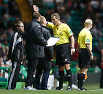 Steve Lomas sent to the stand by referee Iain Brines