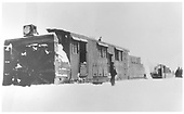 D&amp;RGW rotary snowplow #OO in snow, somewhere on the Crestd Butte Branch.<br /> D&amp;RGW  Crested Butte Branch, CO  Taken by Matkovitch, A. J. - 1927-1928