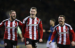 Paul Coutts of Sheffield Utd celebrates his goal during the English League One match at Bramall Lane Stadium, Sheffield. Picture date: December 10th, 2016. Pic Simon Bellis/Sportimage