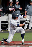 February 22, 2013: Nevada Wolf Pack centerfielder Jamison Rowe bunts against the Northern Illinois Huskies during their NCAA baseball game played at Peccole Park on Friday afternoon in Reno, Nevada.