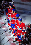 15 October 2009: Members of the Montreal Canadiens are introduced prior to a game against the Colorado Avalanche at the Bell Centre in Montreal, Quebec, Canada. The Avalanche edged out the Habs 3-2 in Montreal's season home opener. Mandatory Credit: Ed Wolfstein Photo