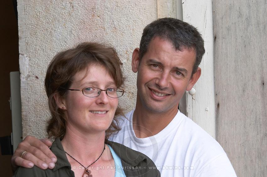 Damien Gachot-Monot and Liselotte owner domaine gachot-monot nuits-st-georges cote de nuits burgundy france