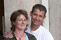 Damien Gachot-Monot and Liselotte owner domaine gachot-monot nuits-st-georges cote de nuits burgundy france
